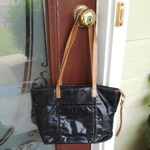 HOBO The Original Black Leather Shoulder Bag